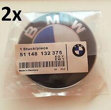 2x FOR BMW Emblem 82mm 2 Pin, SATZ Vorne & Hinten Motorhaube Kofferraum