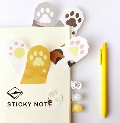 Korea Cute Cats Paws Sticky Note Memo Pad Labels Gift Office Supply 1pc ♫