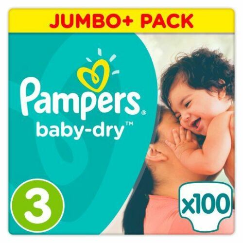 Pack Flexible Sides 5kg-9kg Pack of 100 Pampers Baby Dry Nappies Size 3 Jumbo