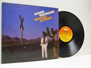 SADAO-WATANABE-orange-express-1st-uk-press-LP-EX-VG-85304-vinyl-album-1981