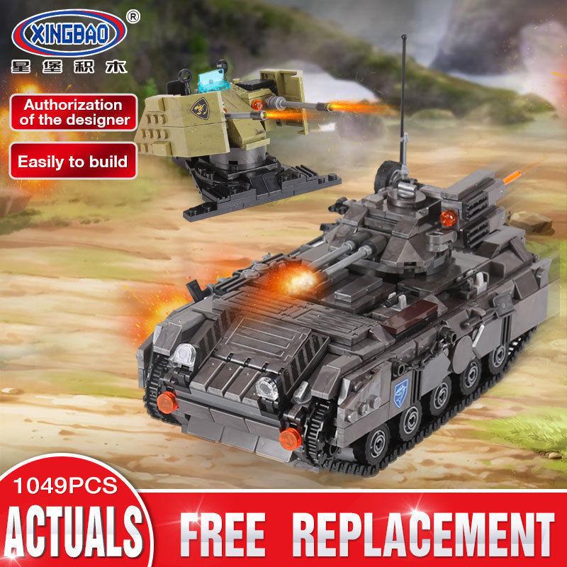 Xingbao Spielzeug Military Series Der Panzerfahrzeug DIY Baustein Kinder 1049PCS