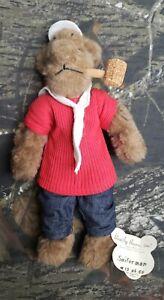 Vtg-Bearly-There-Inc-Sailorman-Bear-12-of-50-Plush-Bear-DI