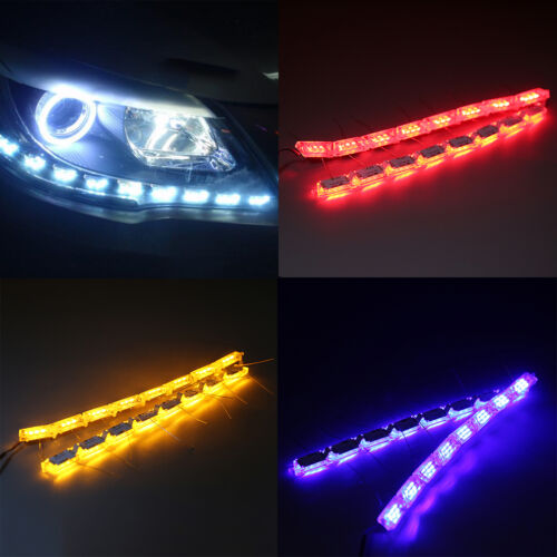 Lot High Power 16SMD LED Bulbs Tearsnochrome Car Daytime Running Lights  EJ