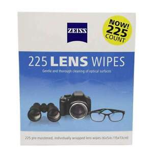 Zeiss Pre-Moistened Lens Cloths Wipes 225 Ct, Glasses Camera Phone Cleaning, New