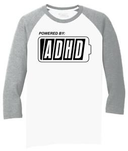 Mens-Powered-By-ADHD-Funny-ADD-Shirt-3-4-Triblend