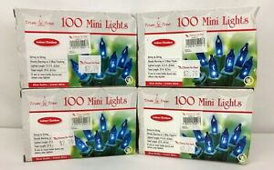 4-Boxes-100-ct-ea-400-total-Trim-a-Tree-Blue-Mini-Christmas-Lights-NEW