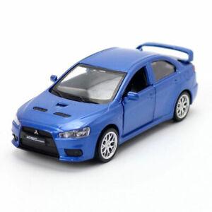 1-41-Mitsubishi-Lancer-Evolution-X-Die-Cast-Modellauto-Spielzeug-Blau-Sammlung