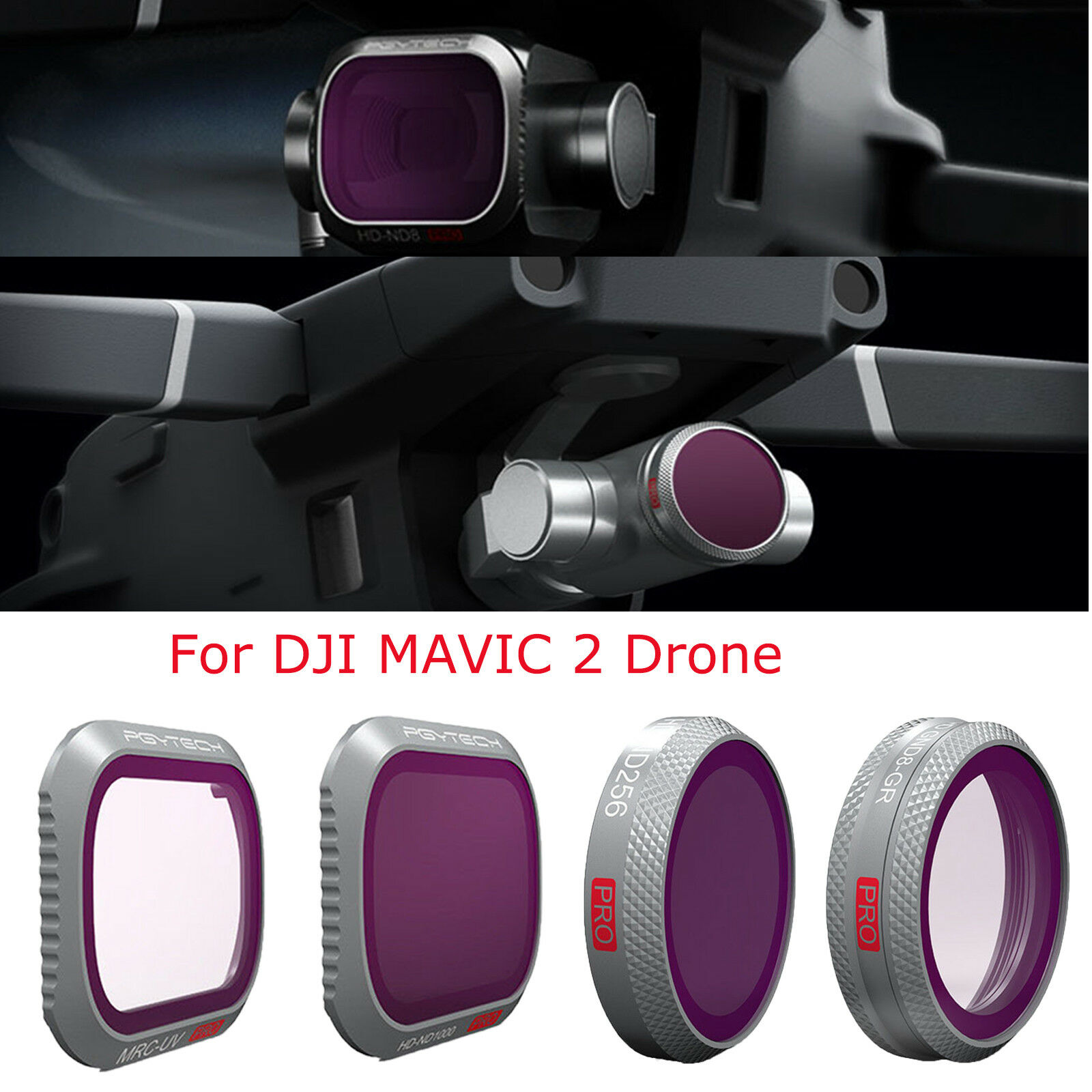 PGYTECH Zoom Pro Camera Lens Filters Parts Accessories Kit for DJI MAVIC 2 Drone