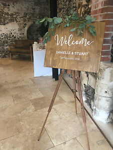 Rustic-Style-Hand-Painted-Welcome-Wedding-Sign-Custom-Made-to-your-details
