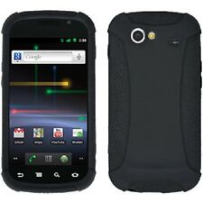 AMZER SILICONE SOFT SKIN JELLY CASE + SCREEN GUARD FOR SAMSUNG NEXUS S - Black