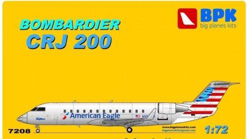 BPK 7208-1//72 Bombardier Crj 200 American Eagle Airplane Plastic Model Kit