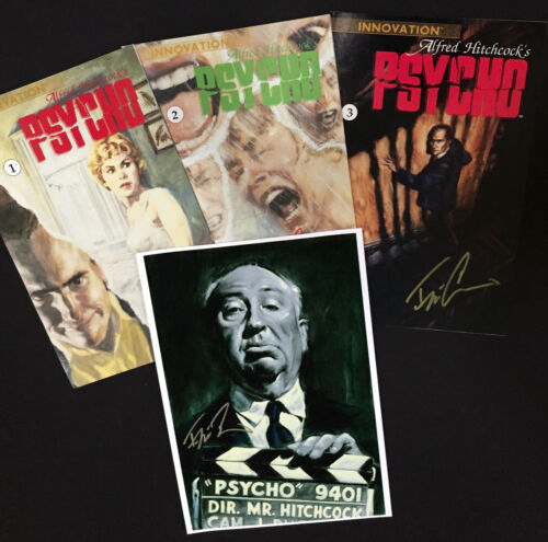 SIGNED /& SOLD by the artist Hitchcock print! Hitchcock/'s PSYCHO complete set