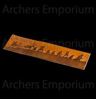 Weta, Lord of the Rings, Brown Leather Bookmark - The Fellowship.  Hobbit