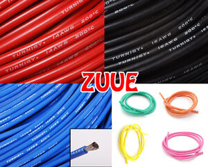 1m TURNIGY PURE SILICONE WIRE 24AWG 18AWG 16AWG 14AWG 12AWG 10AWG RC ...