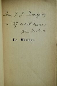ROSTAND-Jean-Le-Mariage-Notes-et-maximes-dedicace