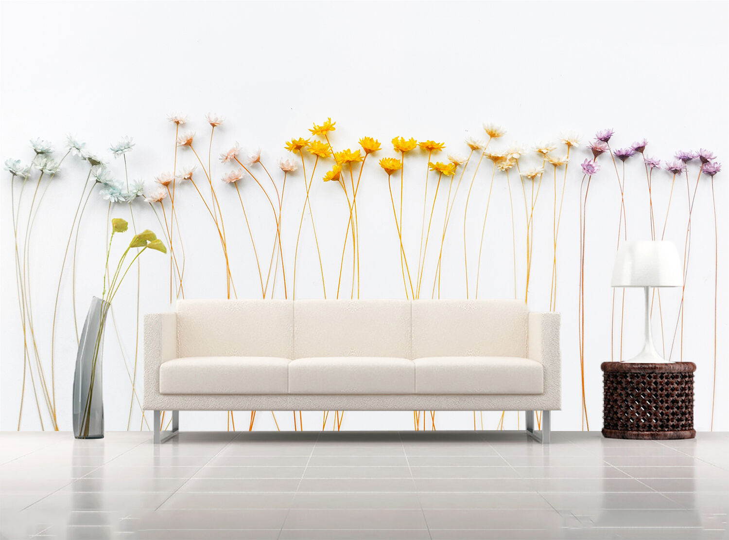3D Slender flowers 6599 Wall Paper Print Wall Decal Deco Indoor Wall Murals