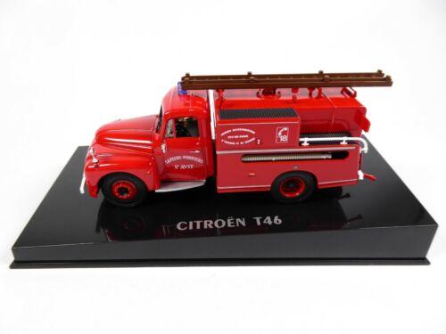 1//43 Norev Camion Voiture Miniature 159988 Citroën T46 1962 Pompiers Guinard