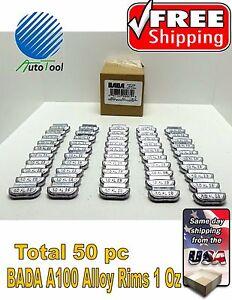 Wheel Weights Alloy Clip On Rims 100 Oz 50 Pc Box Bada Alx 100