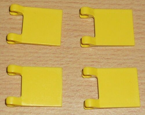 Flaggen in gelb 2 x 2 Lego 4 Fahnen