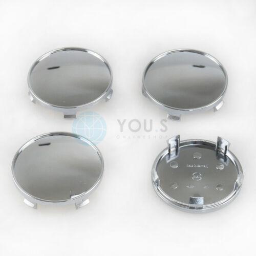 4 cromo tapacubos embellecedores llantas tapa vigas exterior 68,5 mm interior 66,5 mm
