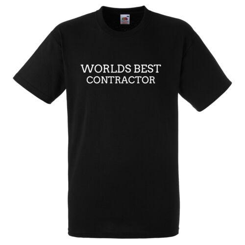 WORLDS BEST CONTRACTOR BLACK T SHIRT