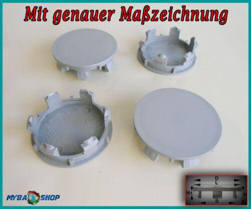 4x COPRIMOZZO piatto 70,0mm COPERCHIO MOZZO radnabende Cerchi Coperchio In Grigio #neu #