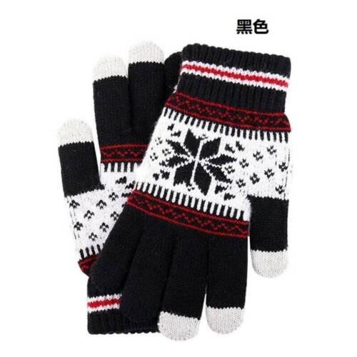 Knitted Gloves Winter Touch Screen Autumn Keep Warm Thicken Wool Mitten Outdoors
