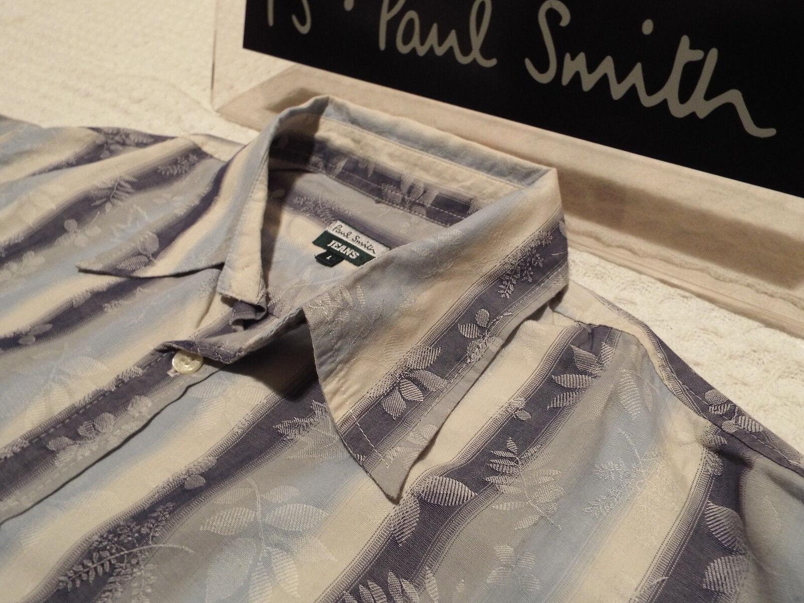 7f16a42f54d PAUL SMITH Shirt Size L (CHEST 42 ) RRP FLORAL JACQUARD STRIPE + Mens  nejdlw2546-Casual Shirts   Tops