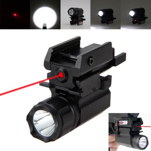 Red Dot Laser Sight Scope 5000LM R5 Torcia LED//Light Rail Mount