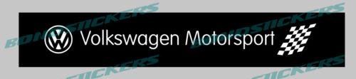 Vinilo de corte pegatina PARASOL VOLKSWAGEN MOTORSPORT CON FONDO VW VAG