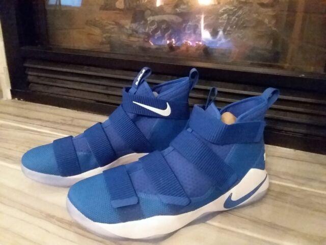 best service f67dd 31135 Nike Lebron Soldier XI TB Men s Basketball Shoes Sz14 Blue White 943155 401  New