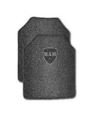 Body Armor | AR500 Steel Plates | Base Frag Coating | Level III 11x14- PAIR