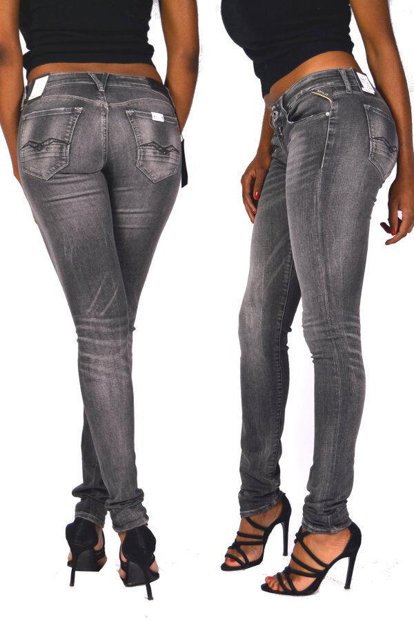 REPLAY Jeans WX613R Rosa schwarz Power 75C grau Washed Größe 30 31 L32
