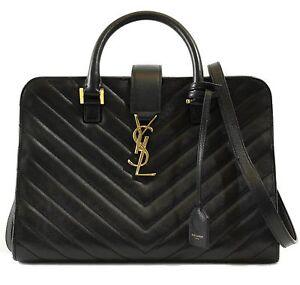 NEW YSL SAINT LAURENT 357397 Small Cabas Monogram Matelasse Leather ... 020a959e04