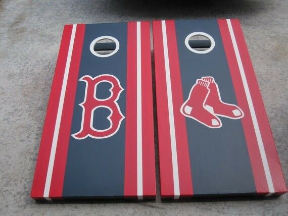 Personalized, Handpainted, Suitcase Cornhole Boards w  Bags