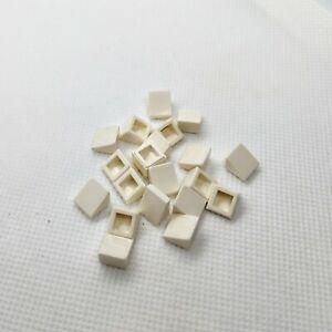 20x-Original-Lego-Teil-54200-weiss-1x1-geneigte-Diagonal-Dachpfanne-Schraege-Quader