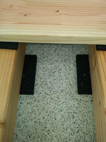 100x100x10 mm Gummigranulat Pad Abstandshalter Terrassenpads 200St 29,25€//m²