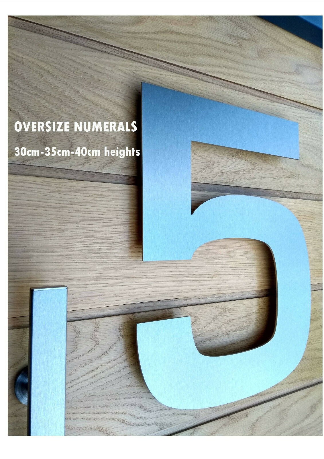Extra Large OverGröße 30 35 40cm Contemporary Stainless Steel House Number