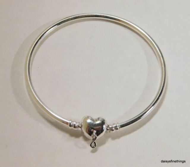Authentic PANDORA Bangle Bracelet Infinity Heart Clasp 19cm #598891c00 Hinge
