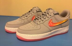 Details about Nike AIR Force 1 '07 Premium Obsidian MistHot Punch Shoes Sz 6.5 (AT4143 400)