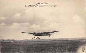 CPA-AVIATION-LYON-AVIATION-LATHAM-MONOPLAN-ANTOINETTE-EN-PISTE