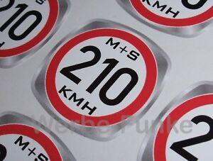Details Zu Geschwindigkeitsaufkleber 210 Kmh Für Ms Winterreifen Reifen 30mm Aufkleber