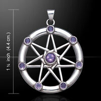 Elven Star .925 Sterling Silver Pendant With Choice Of Gemstone By Peter Stone