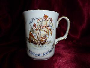 1988-Royal-Doulton-SPANISH-ARMADA-Sir-Francis-Drake-400-Annivversary-RARE-CUP