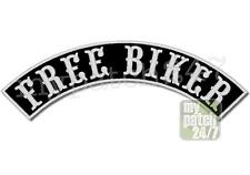 Aufnäher BikerPatch FREE BIKER Bogen oben 35cm stick Top Rocker Kutte MC Badge