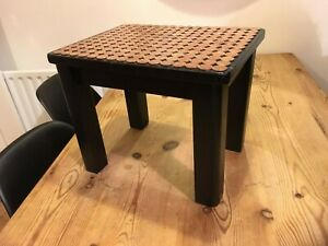Fabulous Details About Small Black Painted Wooden Stool Side Lamp Table Copper 184 1P Penny Coins Gc Inzonedesignstudio Interior Chair Design Inzonedesignstudiocom