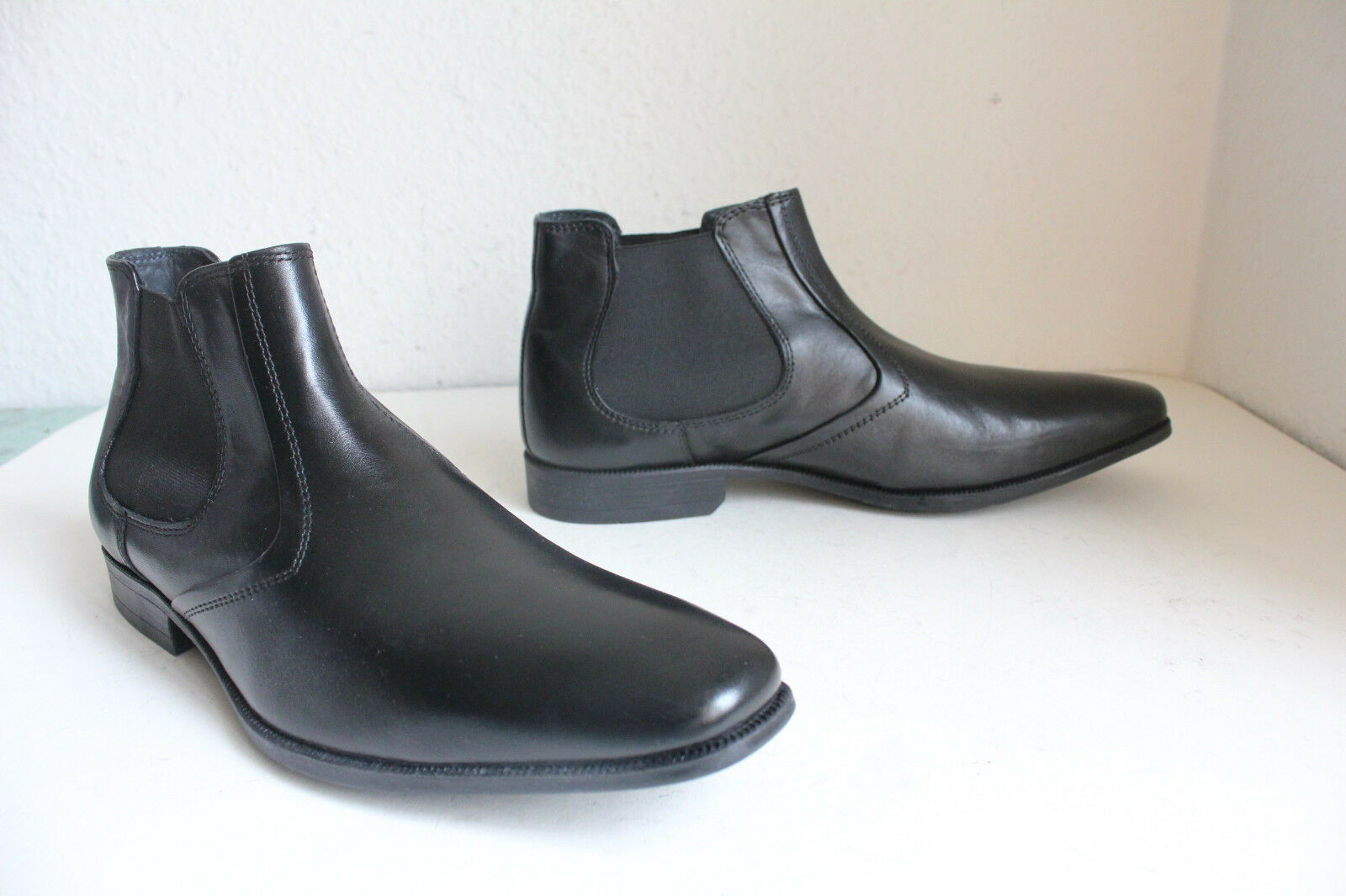 Pier One Elegante Negro Chelsea botas Stiefeletten Echtleder Negro Elegante 41- Ungetragen e63791