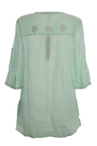 Sheego Longbluse Bluse Tunika Shirt Damen Mintgrün Lagenlook Plusgröße