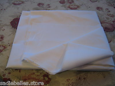 "5 YDS WHITE WOVEN FUSIBLE COTTON INTERFACING 60"" / IRON-ON"
