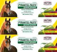 Durvet Pyrantel Paste Wormer - 23.6gm - 3 Pack
